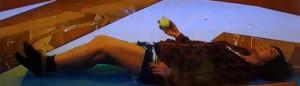 膝痛み テニスボール
