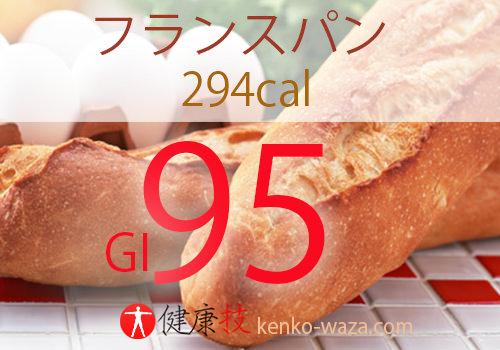 GI値フランスパン