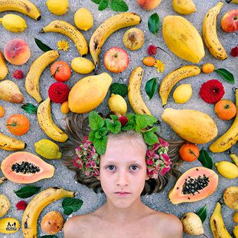 アトピー皮膚炎果物だけ食べてかいけつ!