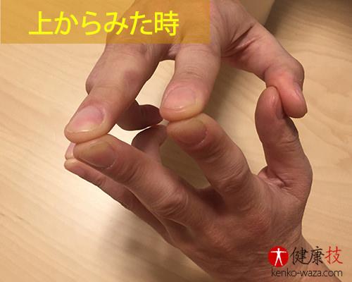 便秘 ガス抜き 胃腸不調 指合わせ方法3
