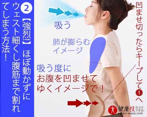 【強烈!】ほぼ動かずにウェスト細くし腹筋まで割れてしまう方法!おまけに肝臓にも良い!健康技2