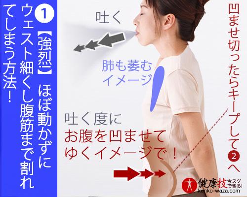 【強烈!】ほぼ動かずにウェスト細くし腹筋まで割れてしまう方法!おまけに肝臓にも良い!健康技1