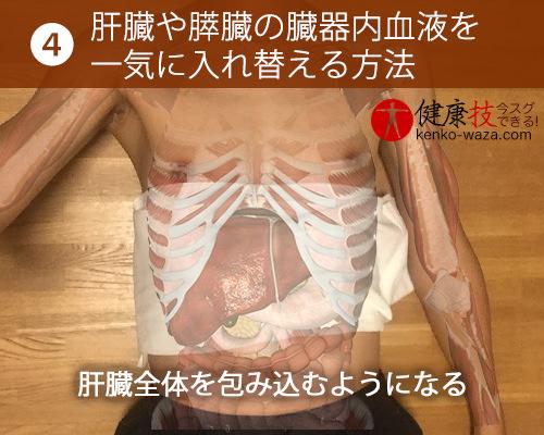 【伝統技!】自分で肝臓や膵臓内の血液を入れ替えられる方法が凄い4健康技