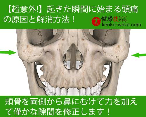 【超意外!】起きた瞬間に始まる頭痛の原因と解消法3健康技!