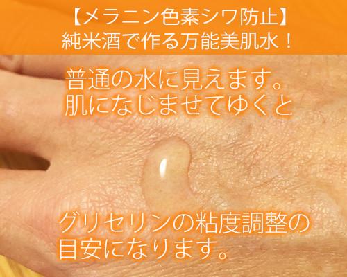 【メラニン色素シワ防止】純米酒で作る万能美肌水!健康技6