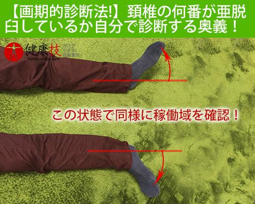 【画期的診断法!】頚椎の何番が亜脱臼しているか自分で診断する奥義!健康技4